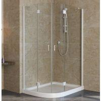 Душевой уголок Vegas Glass AFS-F Lux 110*100 01 01 R профиль белый, стекло прозрачное