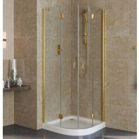 Душевой уголок Vegas Glass AFS Lux 0080 09 01 профиль золото, стекло прозрачное