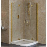 Душевой уголок Vegas Glass AFS Lux 0100 09 01 профиль золото, стекло прозрачное