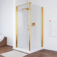 Душевой уголок Vegas Glass EP-Fis 80*100 09 01 L профиль золото, стекло прозрачное