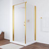 Душевой уголок Vegas Glass EP-Fis 90 09 10 L профиль золото, стекло сатин