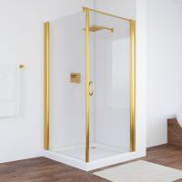 Душевой уголок Vegas Glass EP-Fis 90*100 09 01 R профиль золото, стекло прозрачное