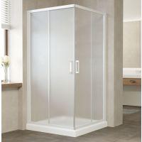Душевой уголок Vegas Glass ZA 0100 01 10 профиль белый, стекло сатин