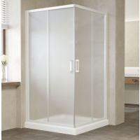 Душевой уголок Vegas Glass ZA 0110 01 10 профиль белый, стекло сатин