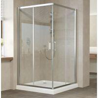 Душевой уголок Vegas Glass ZA 0120 08 01 профиль глянцевый хром, стекло прозрачное