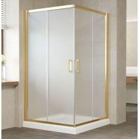 Душевой уголок Vegas Glass ZA 0120 09 10 профиль золото, стекло сатин