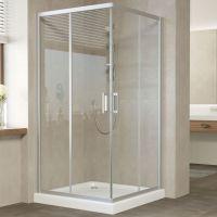 Душевой уголок Vegas Glass ZA 100 07 01 профиль матовый хром, стекло прозрачное