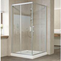 Душевой уголок Vegas Glass ZA 110 07 01 профиль матовый хром, стекло прозрачное
