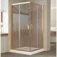 Душевой уголок Vegas Glass ZA 110 09 05 профиль золото, стекло бронза