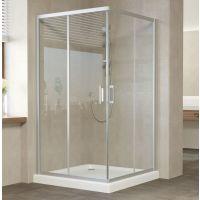 Душевой уголок Vegas Glass ZA 120 07 01 профиль матовый хром, стекло прозрачное