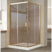 Душевой уголок Vegas Glass ZA 120 09 05 профиль золото, стекло бронза