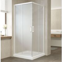Душевой уголок Vegas Glass ZA 80 01 10 профиль белый, стекло сатин
