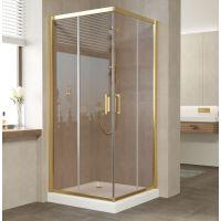 Душевой уголок Vegas Glass ZA 80 09 05 профиль золото, стекло бронза