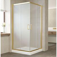 Душевой уголок Vegas Glass ZA 90 09 10 профиль золото, стекло сатин