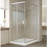 Душевой уголок Vegas Glass ZA-F 100*80 07 01 профиль матовый хром, стекло прозрачное