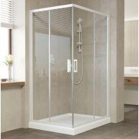 Душевой уголок Vegas Glass ZA-F 100*90 01 01 профиль белый, стекло прозрачное