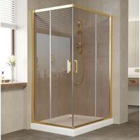Душевой уголок Vegas Glass ZA-F 110*80 09 05 профиль золото, стекло бронза