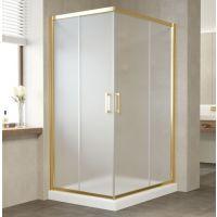 Душевой уголок Vegas Glass ZA-F 110*80 09 10 профиль золото, стекло сатин
