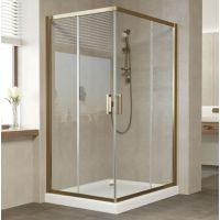 Душевой уголок Vegas Glass ZA-F 110*90 05 01 профиль бронза, стекло прозрачное