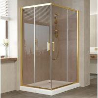Душевой уголок Vegas Glass ZA-F 110*90 09 05 профиль золото, стекло бронза