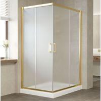 Душевой уголок Vegas Glass ZA-F 110*90 09 10 профиль золото, стекло сатин
