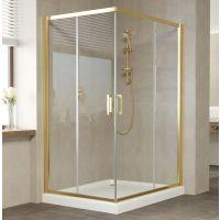Душевой уголок Vegas Glass ZA-F 120*100 09 01 профиль золото, стекло прозрачное