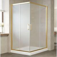 Душевой уголок Vegas Glass ZA-F 120*100 09 10 профиль золото, стекло сатин