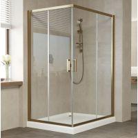 Душевой уголок Vegas Glass ZA-F 120*110 05 01 профиль бронза, стекло прозрачное