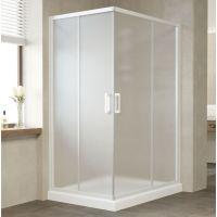 Душевой уголок Vegas Glass ZA-F 120*80 01 10 профиль белый, стекло сатин
