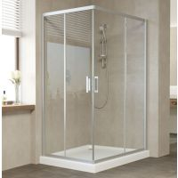 Душевой уголок Vegas Glass ZA-F 120*80 07 01 профиль матовый хром, стекло прозрачное