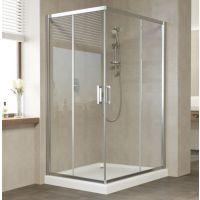 Душевой уголок Vegas Glass ZA-F 120*80 08 01 профиль глянцевый хром, стекло прозрачное