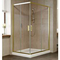 Душевой уголок Vegas Glass ZA-F 120*80 09 05 профиль золото, стекло бронза