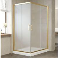 Душевой уголок Vegas Glass ZA-F 120*80 09 10 профиль золото, стекло сатин