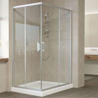 Душевой уголок Vegas Glass ZA-F 120*90 07 01 профиль матовый хром, стекло прозрачное