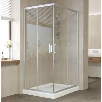 Душевой уголок Vegas Glass ZA-F 90*80 07 01 профиль матовый хром, стекло прозрачное