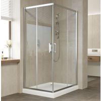 Душевой уголок Vegas Glass ZA-F 90*80 08 01 профиль глянцевый хром, стекло прозрачное