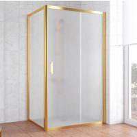 Душевой уголок Vegas Glass ZP+ZPV 100*80 09 10 профиль золото, стекло сатин