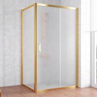 Душевой уголок Vegas Glass ZP+ZPV 100*90 09 10 профиль золото, стекло сатин