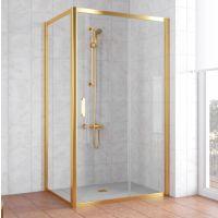 Душевой уголок Vegas Glass ZP+ZPV 110*70 09 01 профиль золото, стекло прозрачное