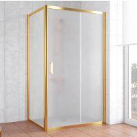 Душевой уголок Vegas Glass ZP+ZPV 110*80 09 10 профиль золото, стекло сатин