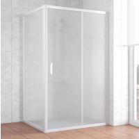 Душевой уголок Vegas Glass ZP+ZPV 120*100 01 10 профиль белый, стекло сатин