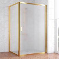 Душевой уголок Vegas Glass ZP+ZPV 120*100 09 10 профиль золото, стекло сатин