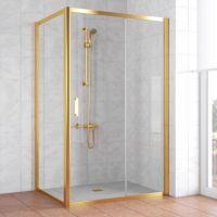 Душевой уголок Vegas Glass ZP+ZPV 120*80 09 01 профиль золото, стекло прозрачное