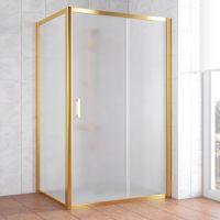 Душевой уголок Vegas Glass ZP+ZPV 120*80 09 10 профиль золото, стекло сатин