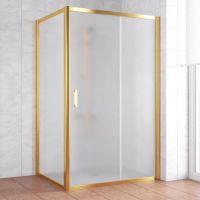 Душевой уголок Vegas Glass ZP+ZPV 120*90 09 10 профиль золото, стекло сатин