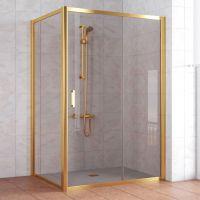 Душевой уголок Vegas Glass ZP+ZPV 130*100 09 05 профиль золото, стекло бронза