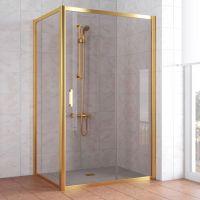 Душевой уголок Vegas Glass ZP+ZPV 130*80 09 05 профиль золото, стекло бронза
