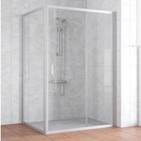 Душевой уголок Vegas Glass ZP+ZPV 140*100 07 01 профиль матовый хром, стекло прозрачное