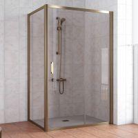 Душевой уголок Vegas Glass ZP+ZPV 140*70 05 05 профиль бронза, стекло бронза