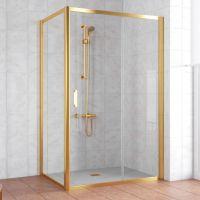 Душевой уголок Vegas Glass ZP+ZPV 140*70 09 01 профиль золото, стекло прозрачное
